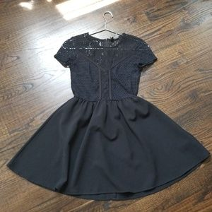 Black lace sweetheart dress, H&M